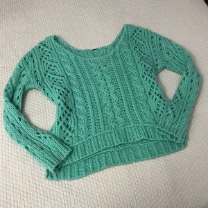 Free People Green Mohair Sweater